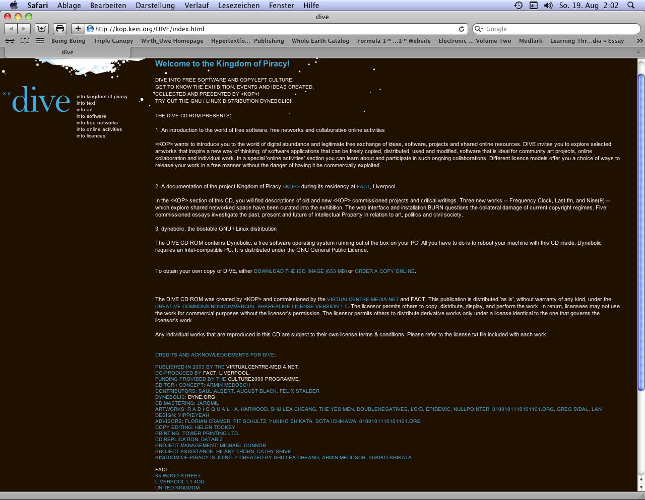 IASLonline NetArt: History of Computer Art VI 3 Net Art in